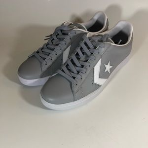 2aadaab06db777 Converse Pro Leather OX 76 Wolf Grey White 158089C